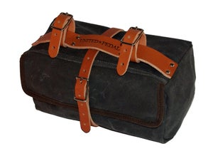 Image of Moss Saddlebag | 24oz Waxed Cotton | Charcoal
