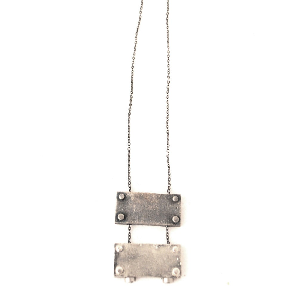 Image of small horizontal necklace double
