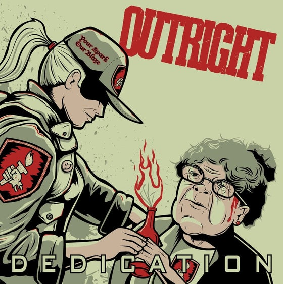 """Image of OUTRIGHT """"DEDICATION"""" 7 inch - 2nd pressing"""