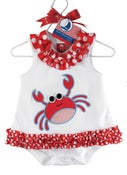 Image of Red Crab Romper
