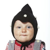 Image of Kids Dotted Hat           Black