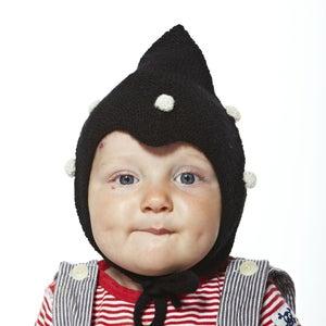 Image of Kids Dotted Hat           Black