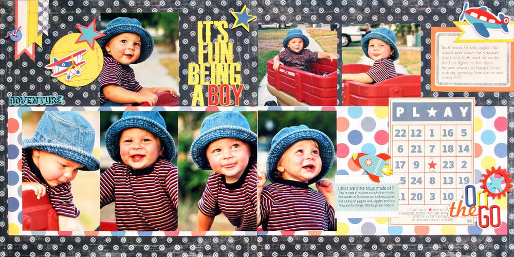 Simply Scrapbook Pages — It's Fun Being a Boy Layout Kit