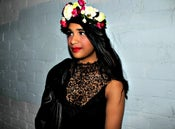 Image of Silk multi colour floral crown