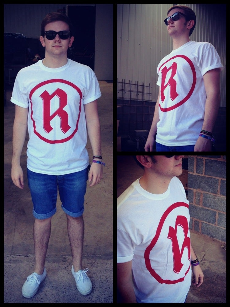 Image of R Romans Logo Printed On White