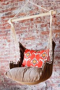Image of Hammock Swing Chair - Orange Ikat