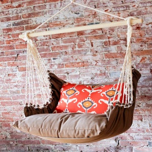Image of Hammock Swing Chair - Orange Ikat
