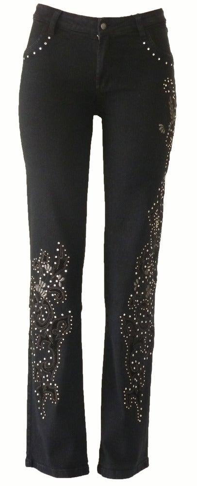 Image of Black 'Show Stopper' Jeans 5W3112BLKP