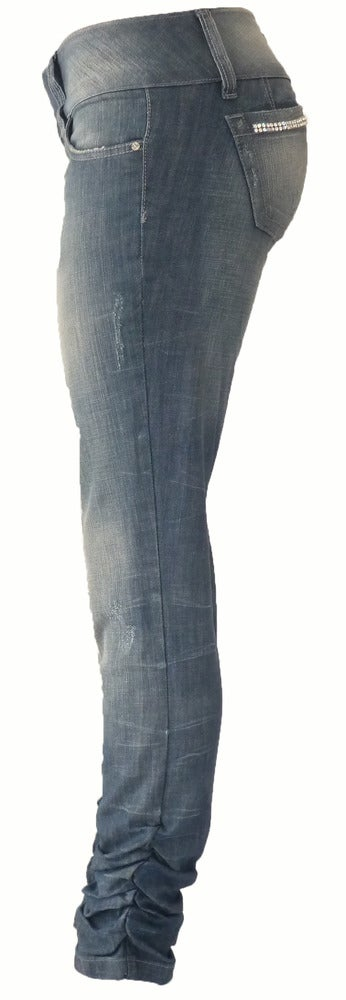 Image of 'Fancy' Ruched Jeans 4W5074P