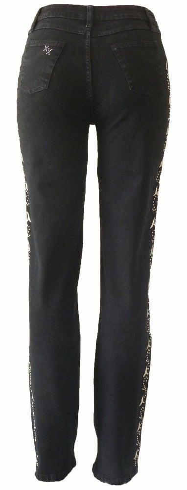Image of Black Corrosion 'White Dandelion' Jeans 7S1028P