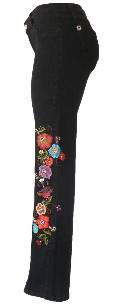 Image of Black 'Retro Floral' Jeans 11S2385BLKP