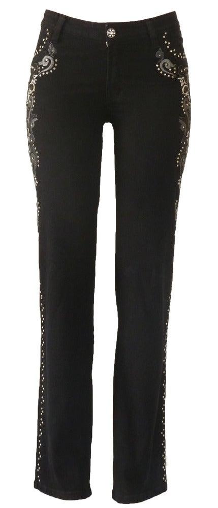 Image of Black Tonal Swirl Jeans 11W2502P