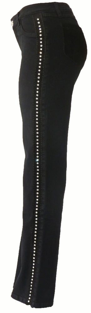 Image of Black 'Crystallized' Jeans 4W1001P