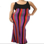 Image of  Striped maxi dress