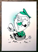 Image of The Fisherman - Hand pulled A3 screen print