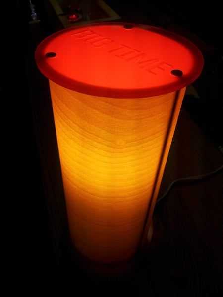 Image of Handmade Personalized Real Wood Accent Lamp - Birch