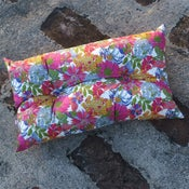 Image of ANGELICA GARLA rectangle buttoned cushion