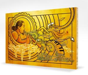 Image of Cloudwriter - - mounted on bamboo