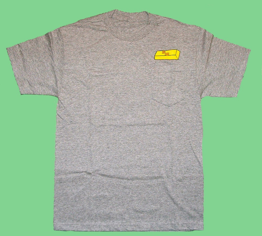 """Image of """"Gold Standard"""" Pocket Tee in Heather"""