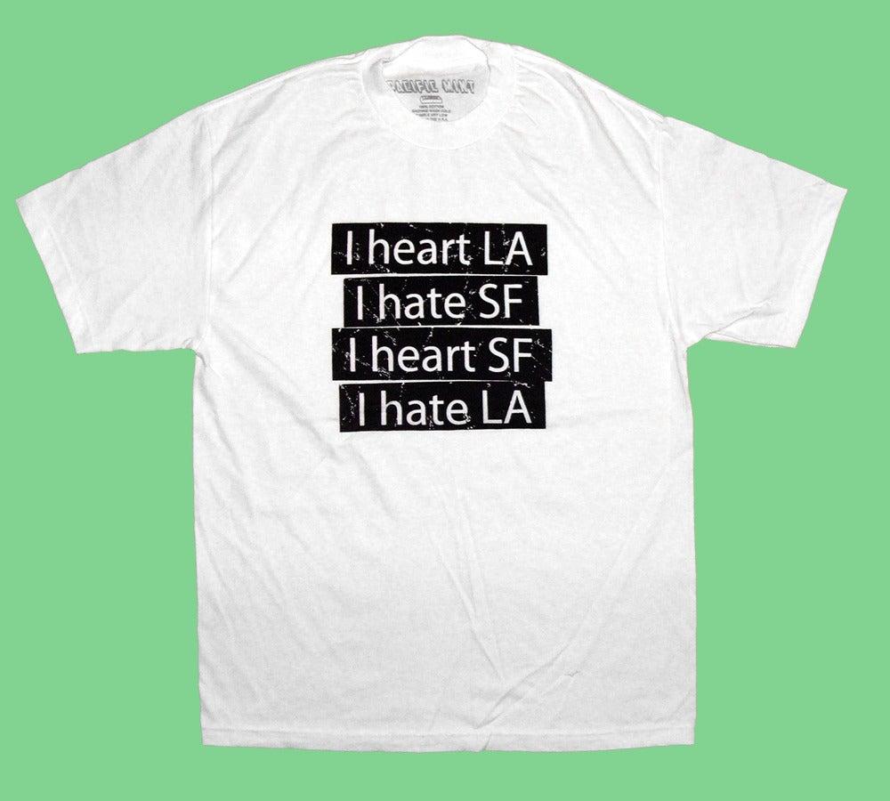"Image of ""Heart LA Hate SF"" Tee in White"