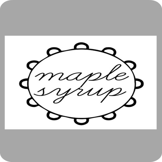 Image of Framed Maple Syrup Lable