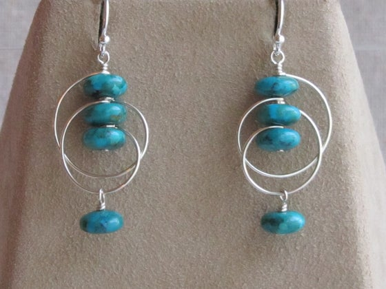 Image of Shell Earrings ~ Turquoise