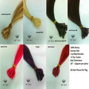 Image of 100% Remy Human Hair Extensions-Keratin U Tip (20 per pkg)