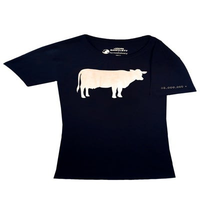 "Image of girls john bartlett + farm sanctuary ""ambassador collection"" cow tee"