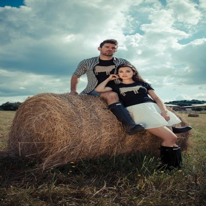 "Image of guys john bartlett + farm sanctuary ""ambassador collection"" cow tee"