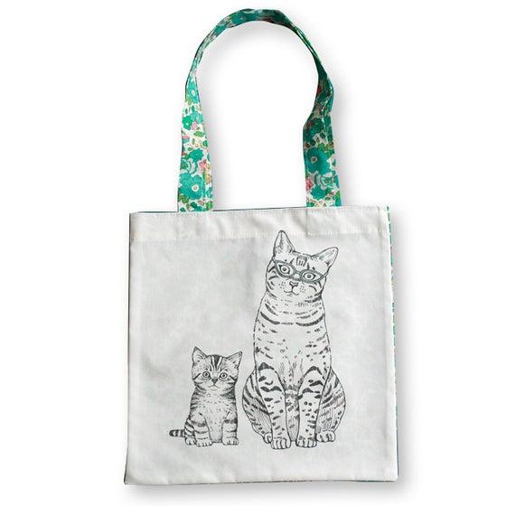 Image of Sac en coton enfant Maman et chaton