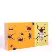 Image of Yellow with Beetles 18 x 9