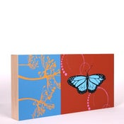 Image of Red with Butterfly 18 x 9