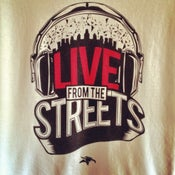 "Image of T-Shirt ""Live from the Streets"" by Animal Bikes"