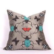 Image of Grey Kaleidoscope Pillow 21 x 21
