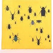 Image of Sunshine Yellow with Beetles                     21 x 21