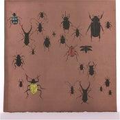 Image of Brown with Beetles 21 x 21