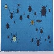Image of Indigo with Beetles 21 x 21