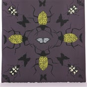Image of Eggplant Kaleidoscope with Beetles 21 x 21
