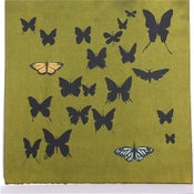 Image of Olive with Butterflies 21 x 21