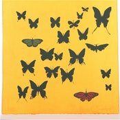 Image of  Sunshine Yellow with Butterflies 21 x 21