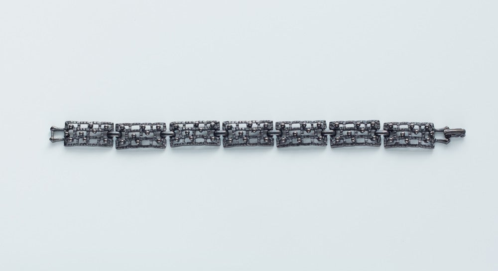 Image of Antique Mid Century Textured Line Bracelet