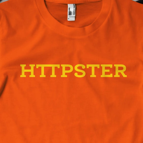 Image of HTTPSTER Tee, Second Edition (Orange)