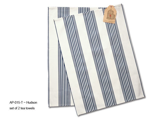 Image of Hudson Tea Towels by Birdkage- set of 2