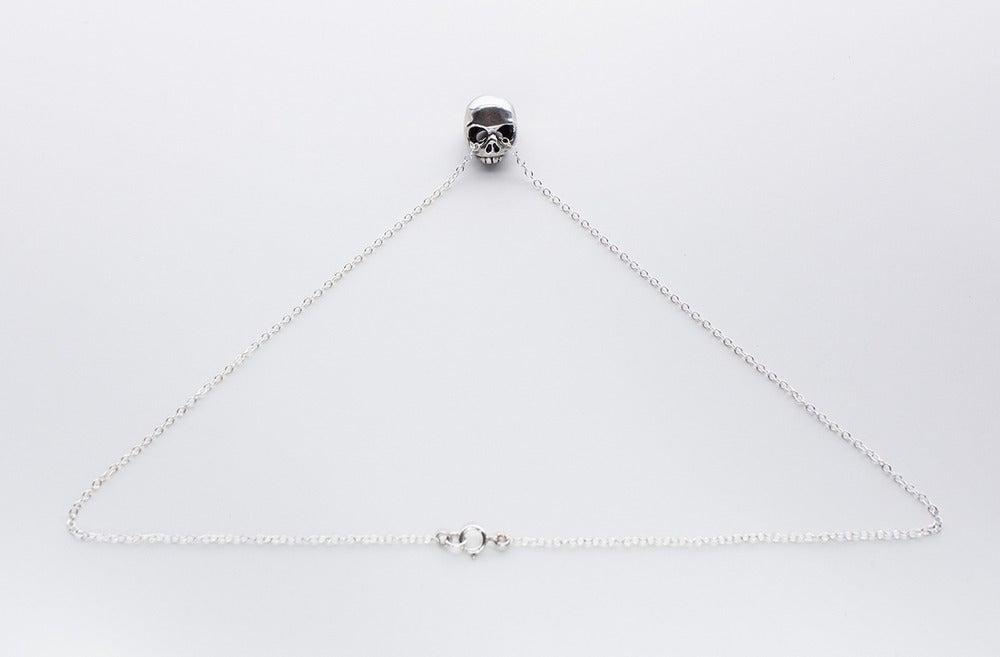 Image of Beloved Little Lamb Floating Skull Necklace
