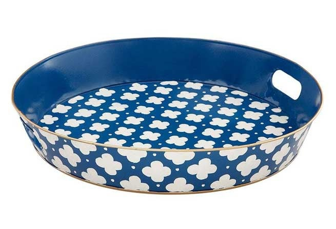 Image of Coptic Blue Ottoman Serving Tray 50 % off