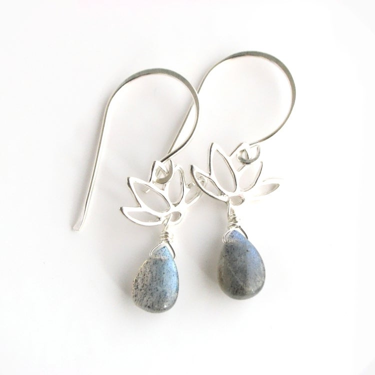 Image of Lotus Earrings Sterling Silver