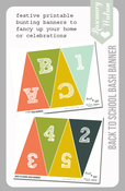 Image of Back To School Bash Banner Printable