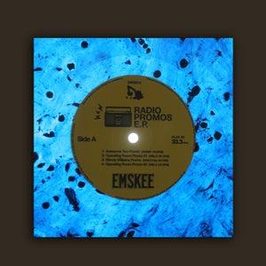 Image of DWG012 - Emskee 'Radio Promos E.P.' (marbled blue vinyl)