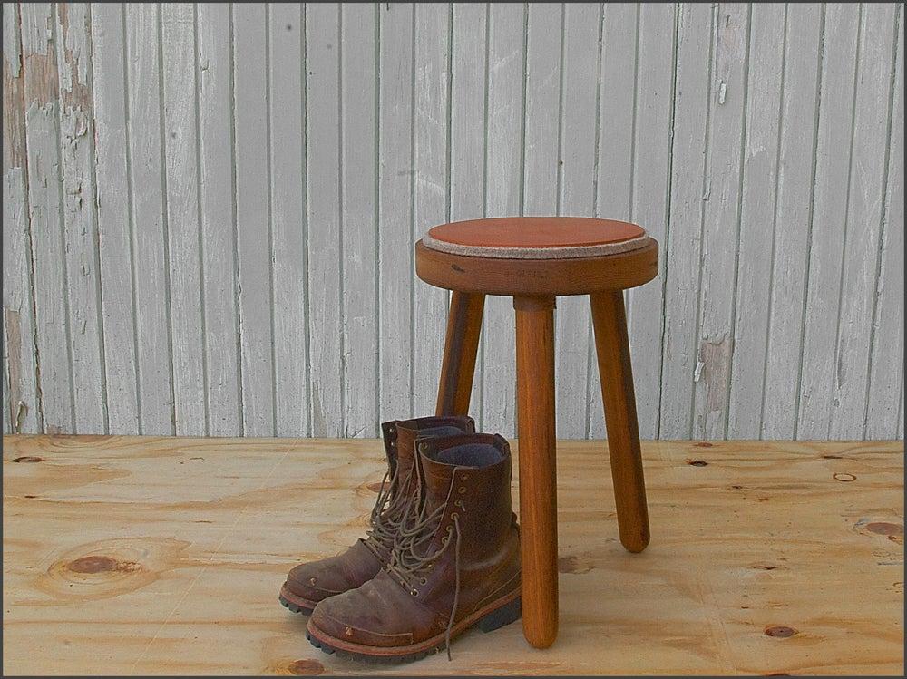 Image of felt + leather milking stool // custom built to order & humanbrewed u2014 felt + leather milking stool // custom built to order islam-shia.org