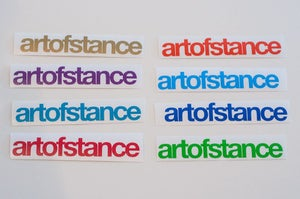 Image of artofstance diecut sticker Color